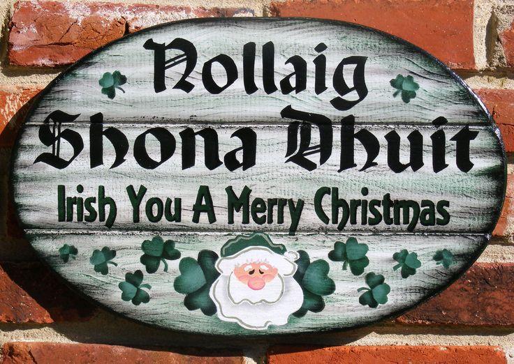 Irish Christmas Sign Irish Christmas Welcome Plaque With