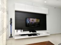 #tv #console #cabinet #white #laminate #wood #livingroom # ...