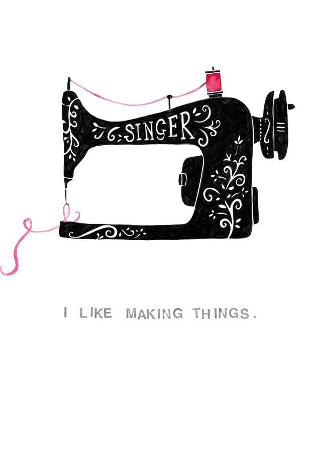 238 best images about Sewing machines illustrations on