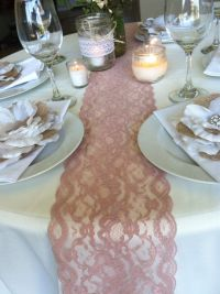 25+ best ideas about Lace runner on Pinterest