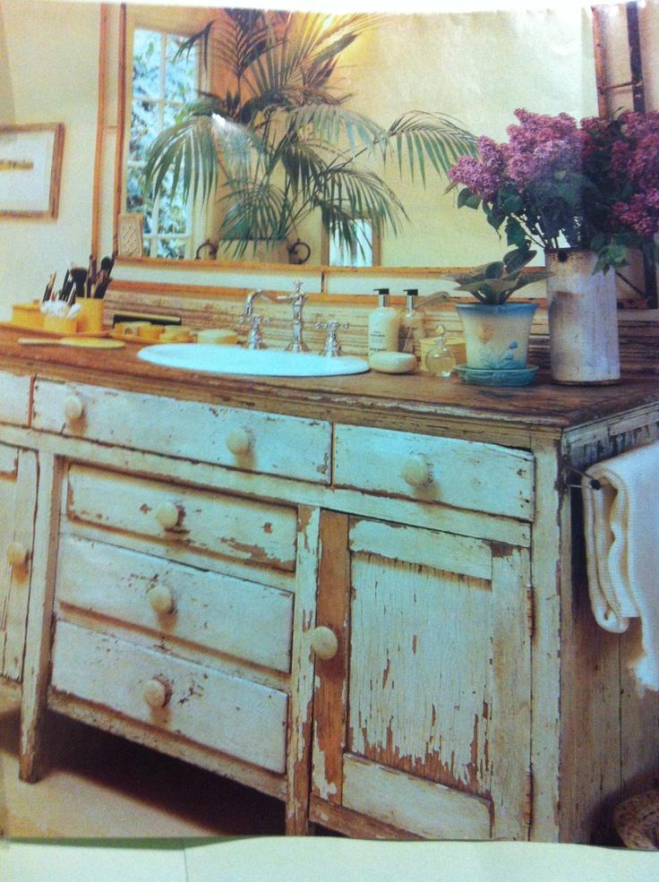 Old Dresser For Bathroom Sink Bathrooms Pinterest
