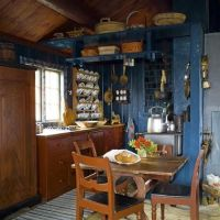 country blue kitchen   Early Simple Living   Pinterest ...