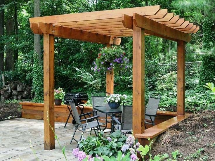 Construire une pergola en bois plan free construire topic for Construire une pergola en bois couverte