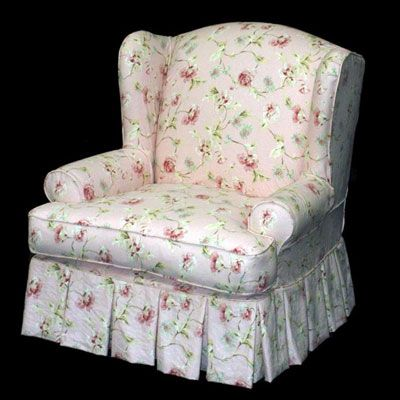 cottage style chair slipcovers    Upholstered