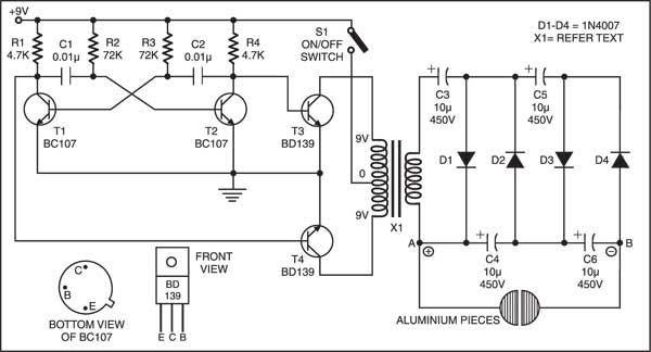 dc voltage quadrupler circuit