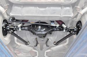 A look of a rear suspension setup on a 1963 Impala including a moser rear end   Impala Pins