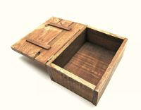 Rustic Reclaimed Pallet Wood Box - Repurposed Wooden Small ...