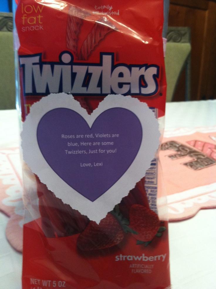 Twizzlers Valentine Valentines Day Pinterest Valentines