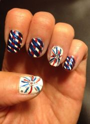4th of july nail design. art