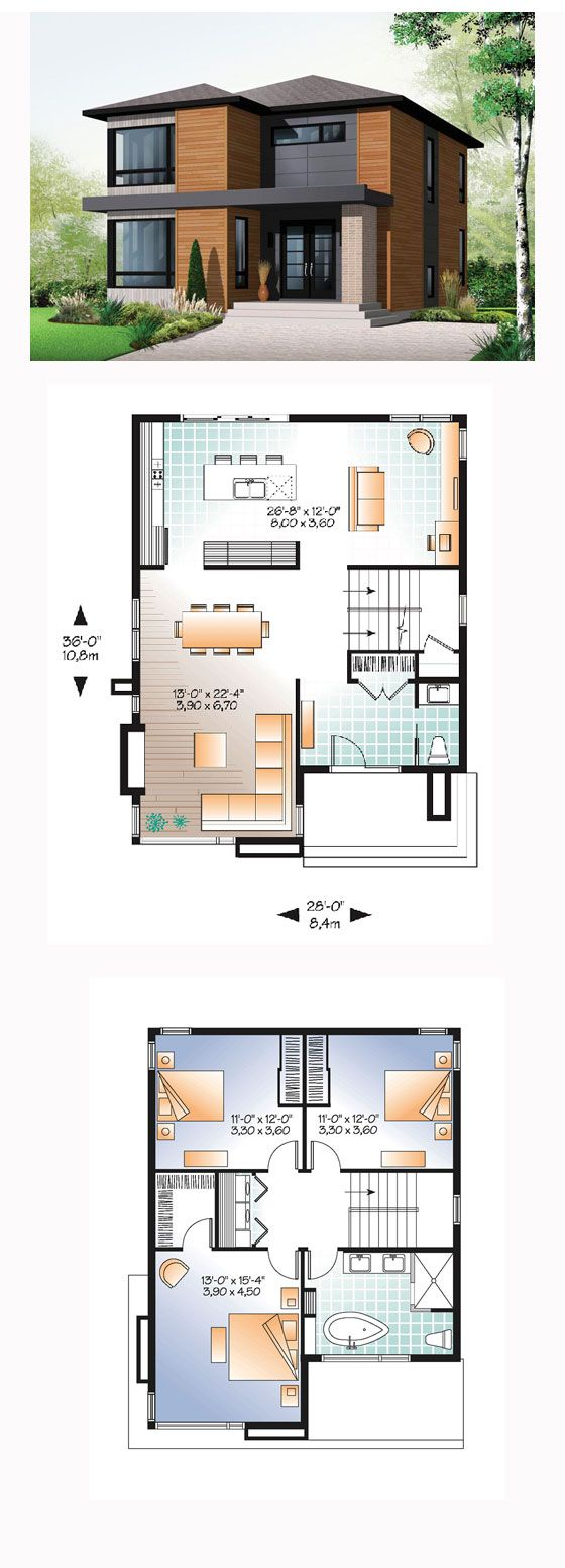 25 Best House Plans Ideas On Pinterest 4 Bedroom Blue Open Plan Bathrooms And Country