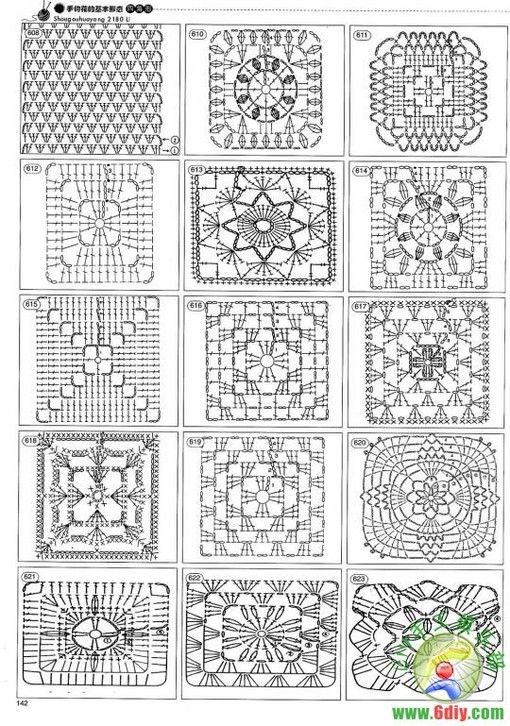 crochet square motif diagram pattern gmc truck wiring diagrams 123 best images about free granny patterns. on pinterest   pattern, flower ...