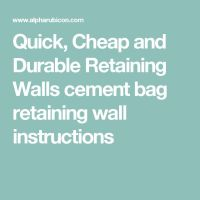 25+ best ideas about Cheap retaining wall on Pinterest ...