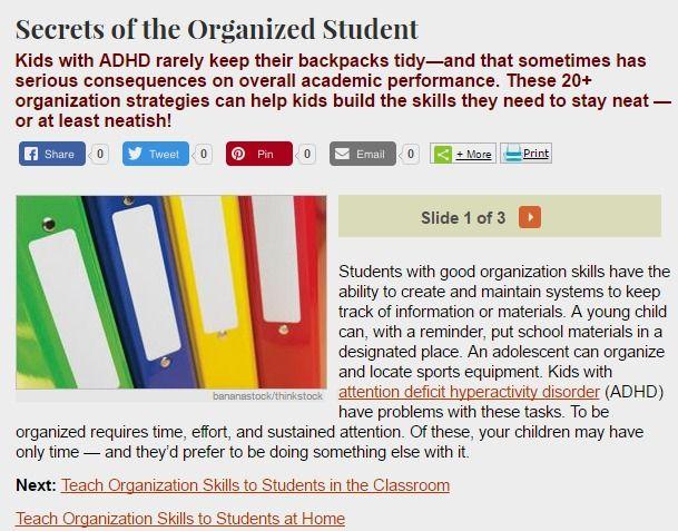 Does Having Poor Organization Skills Warrant Putting A