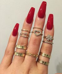 25+ best ideas about Red nails on Pinterest | Red nail ...