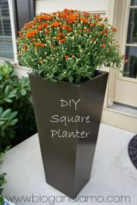 Diy Tall Planters | www.pixshark.com - Images Galleries ...