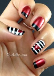 red and black white