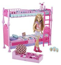 Amazon.com: Barbie Sisters Sleeptime Bedroom and Stacie