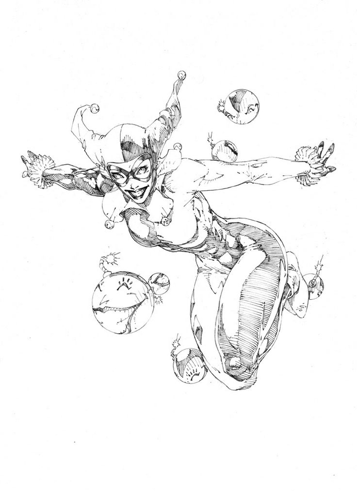 1000+ images about Harley Quinn Drawing Ideas on Pinterest