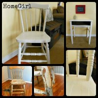 Recycled antique desk and chair by HomeGirl | RePurpose ...