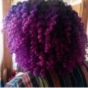 purple ombr hair naturally