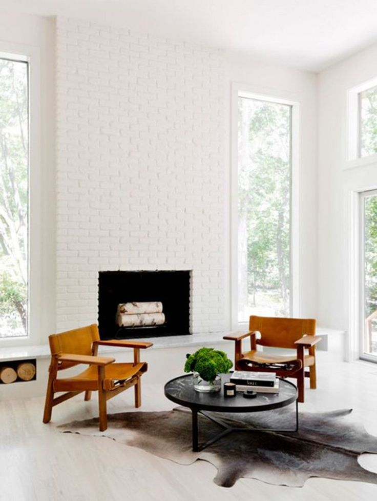 25 best ideas about White brick fireplaces on Pinterest