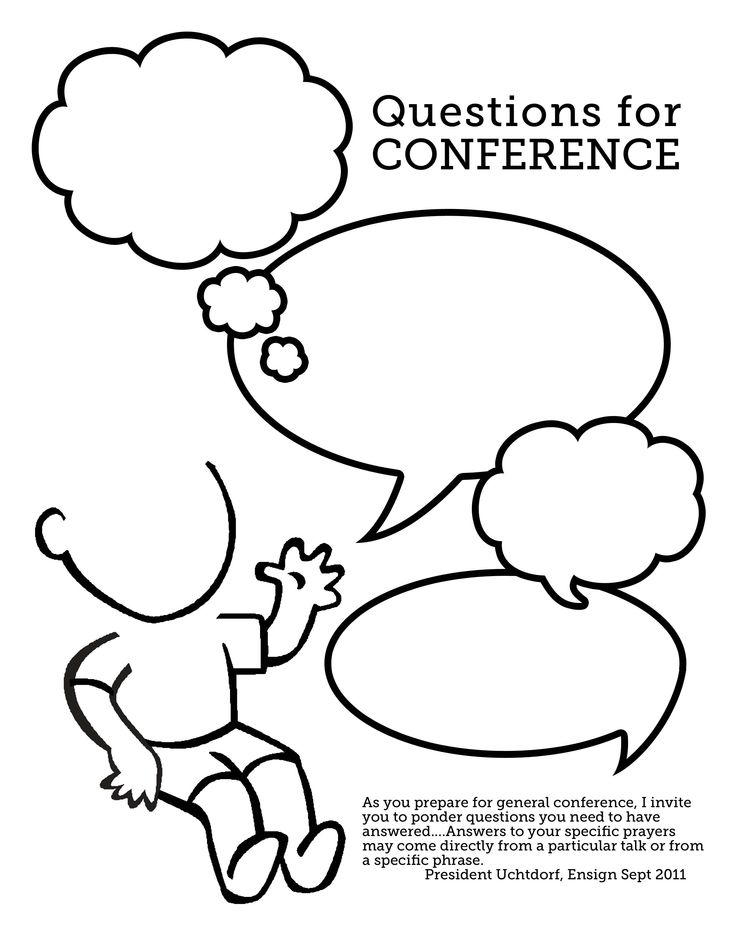Questions for Conference for kids (great for FHE before