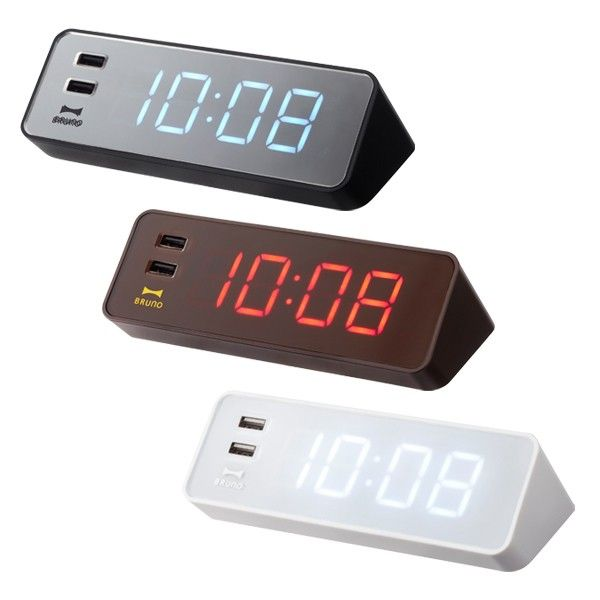 An Electronic Led Clock With A Usb Supply Port Tired Of Always Having To