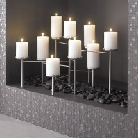 Pewter Fireplace Candelabra in Fireplace Accessories ...
