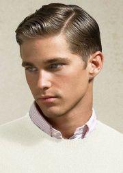 classy retro slick parted haircut