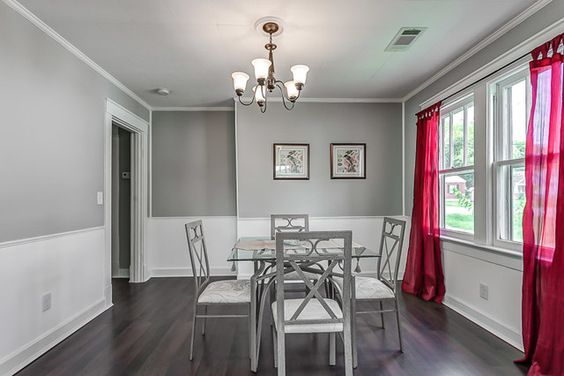 I really like these gray walls Rather elegant It gives