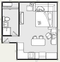 25+ best ideas about Studio apartment floor plans on ...