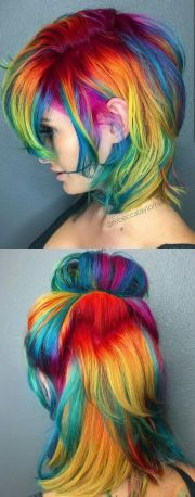 rainbow dyed hair ideas