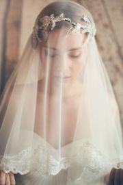 blushing bride blusher veils