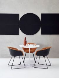 Arper / Duna 02 chair and Parentesit wall panel by lievore ...