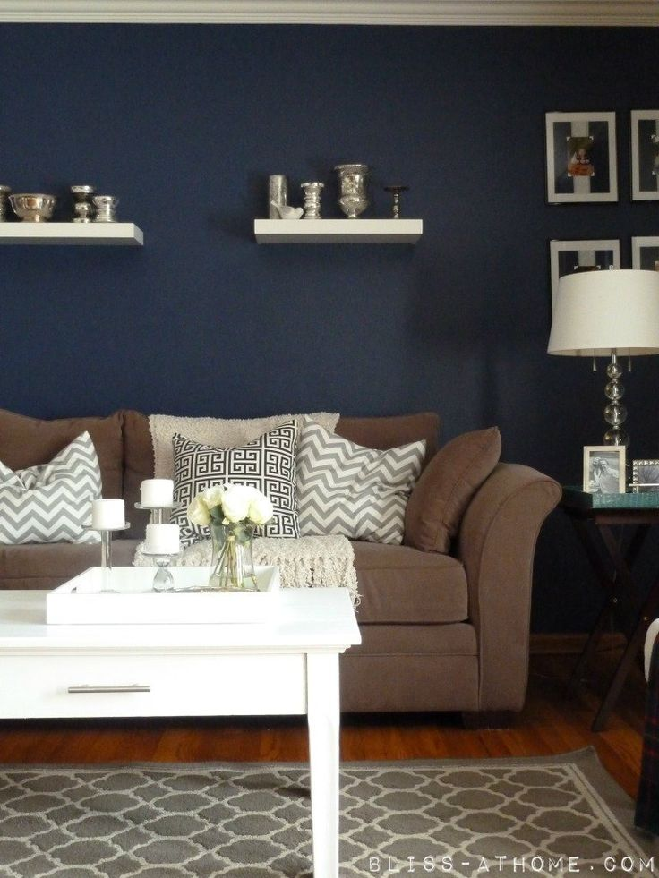 1000 ideas about Blue Accent Walls on Pinterest  Navy