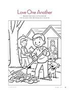 coloring page. Jesus Wants Us to Love Everyone. Lesson 31