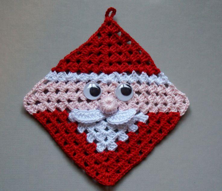 crochet square motif diagram pattern 1998 ford explorer stereo wiring free santa claus granny / hot pad - so cute   pads ...