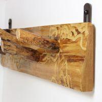 Wall rack Coat rack Reclaimed wood - Rustic wall mount ...