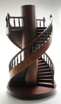 Brunk Auctions - Miniature Mahogany Double Spiral ...