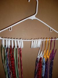 DIY TIE RACK. Use shower curtain rings or clips from the ...