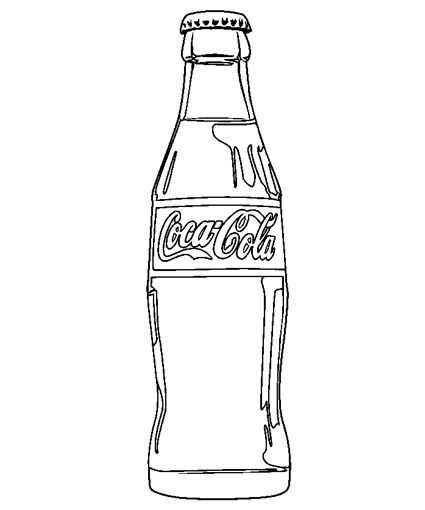 Coca Cola Clipart Black And White Food coloring on