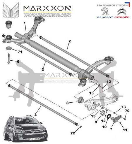 Pin by Marxxon Machinery on Peugeot Citroen rear axle