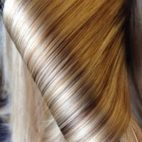 I choose many shades of blonde for this clients hair color ...