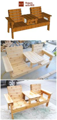 25+ best Outdoor furniture plans ideas on Pinterest