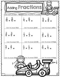 Fun Adding Fractions Worksheets - printable fraction ...