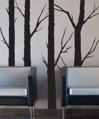 1000+ images about black tree wall on Pinterest