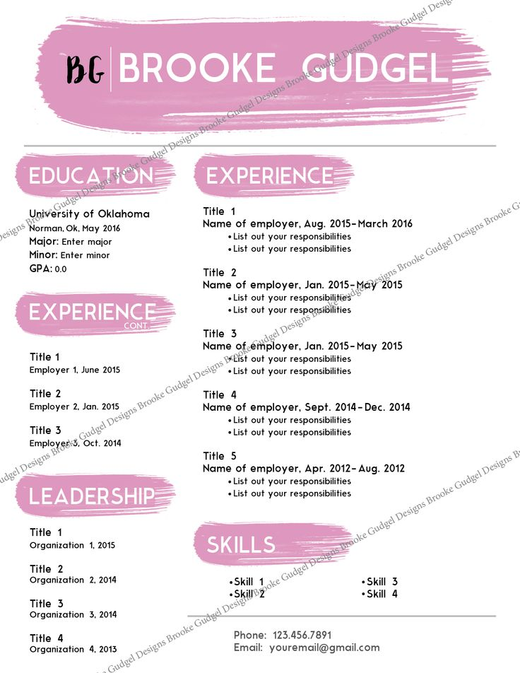 resume examples for sorority