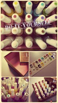 Paint onto lid - DIY Nail Polish Storage #nailart ...