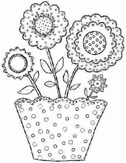 17 Best images about flower coloring pages for applique on