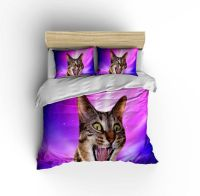 Epic Space Cat Bedding Set - Crazy Cat In Space Duvet ...
